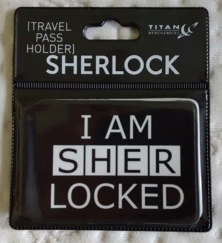 "black Sherlock /""I am Sherlocked/"" Travel Pass Holder"