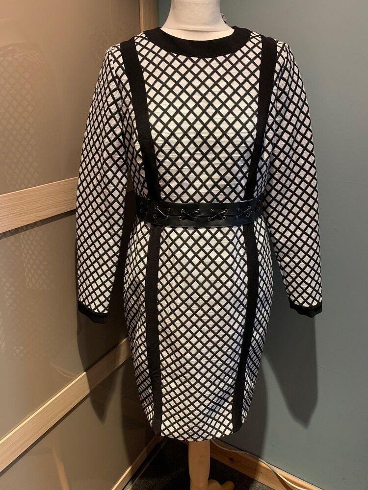 Myleene Klass White & Black Dress Size 12