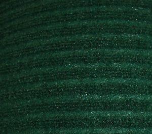 Green Wide Ribbed Mat Polypropylene Carpeting Entrance