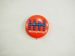 Hhh-Humphrey-1968-Naranja-Politico-Campaign-Pin-Back-Pin-2-9cm