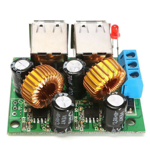 4 USB Port 12V to 5V Car Charger Power Supply Step-Down Module for Phone GPS