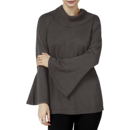 Alfani Women/'s Cowl Neck Bell Sleeve Pullover Sweater