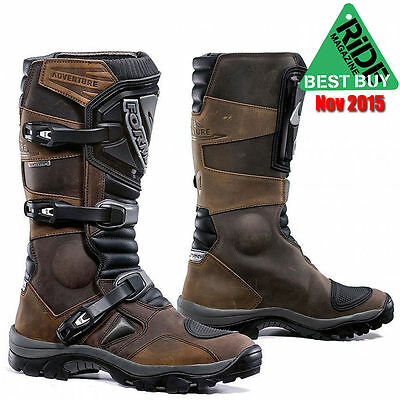 Forma Adventure Leather Motorcycle Boots Brown 48