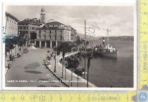 Cartolina-Postcard-Lago-di-Grada-Salo-Imbarcadero-e-Hotel-Metropole