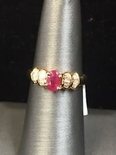 Stunning New 18k Yellow Gold 1ct. Burmease Ruby and .30ct. Diamond Accent Ring