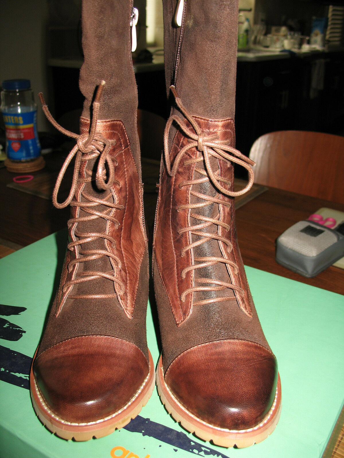 NEW in Box Antelope Partial Lace-Up Boot Size 36M COFFEE