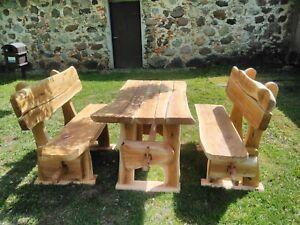 Oak Muebles De Jardin Grande 100 Hecho A Mano Nuevo Ebay