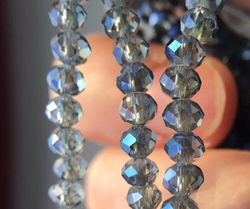 100 Stück navy blau Facettierte Glasperlen 4mm Kügelchen Kristall DIY Schmuck