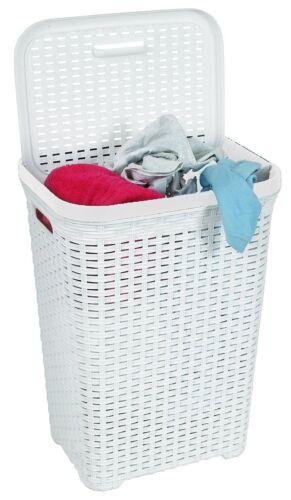 Rectangular Esquina De Rattan Diseño Cubo lavandería grande lavado obstaculizar de varios almacenamientos