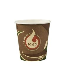 "2000 Papp Trinkbecher ""To Go"" 0,1 l Coffee Einwegbecher Kaffeebecher"
