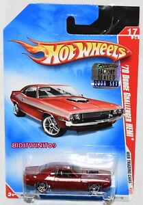 2008 Hot Wheels ~Web Trading Cars~ /'70 Dodge Challenger Hemi 17//24 Red Version