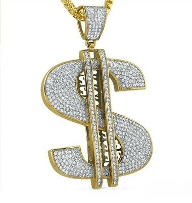 1.66 ct Round Simulated Diamond Men/'s Picture Pendant 14k Yellow Gold Plated