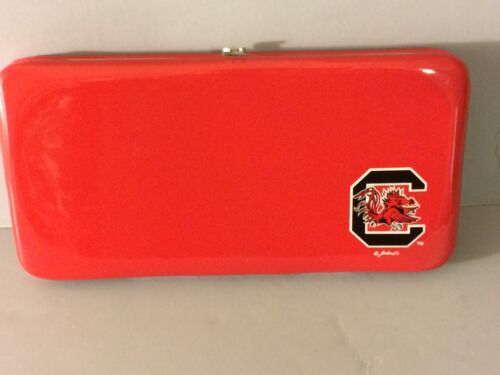 South Carolina Gamecocks Clutch Purse Wallet PVC NCAA Officially Licensed
