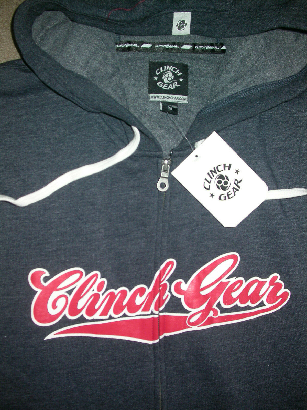 CLINCH GEAR ZIP UP HOODED SWEATSHIRT LARGE  UFC KSW MMA BJJ WRESTLING BOXING NEW