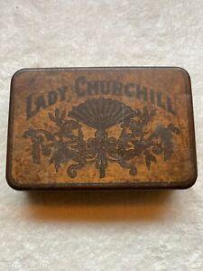 Vintage-LADY-CHURCHILL-Tobacco-Tin-Cigar-Pocket-Humidor-Rare