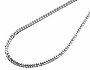 10K solid white gold 22 inches fine box link chain