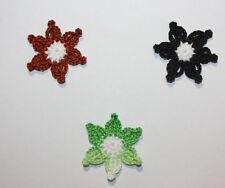 3 Blumen, Häkelblumen, Applikation, Aufnäher, Häkelapplikation, Neu.