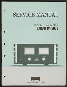 Sansui-BA-5000-Original-puissance-Amplificateur-Manuel-de-Service-Diagram