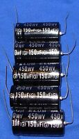 5 Pieces 150uf 450v Axial Electrolytic Capacitors 105c Rating