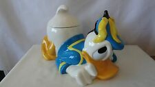 Walt Disney Donald Duck Laying Down With Bananas On His Head Cookie Jar #G275
