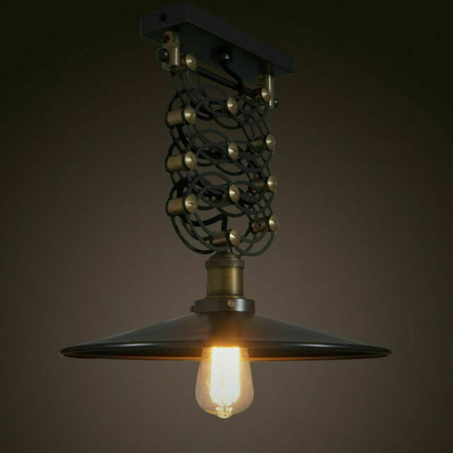Industrial Scissor Pendant Flush Mount Light Retractable Ceiling Lamp Lighting For Sale Online Ebay
