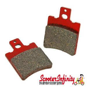 Brake-Disc-Pads-Front-Red-Malossi-MHR-Vespa-PX125-gt-2011-PX-200-MY-Disc