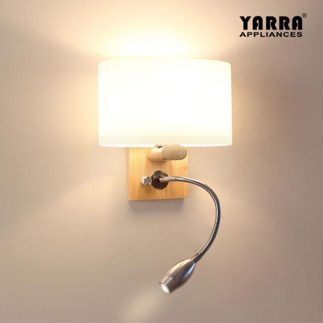 2 In 1 Reading Wall Light Adjule Lighting Bedside Lamp Bedroom Lights