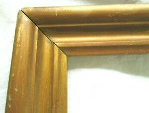 Antique-Fits-10x-14-034-Gold-Picture-Frame-Wood-Gesso-Fine-Art-Country-Primitive