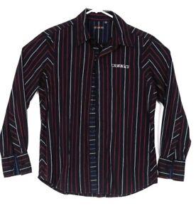 Rusty-Shirt-Medium-Mens-Long-Sleeve-Button-Up-Casual-Dress-Formal-Suit-Top-M