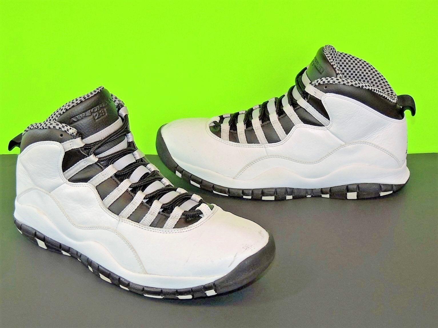 Nike Air Jordan Steel X 10 10.5 Sneaker Shoe Retro Stealth Grey DS Black White