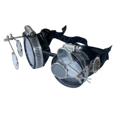 Steampunk Flip up Goggles Cyber Halloween Costume Burning man Dress up Party
