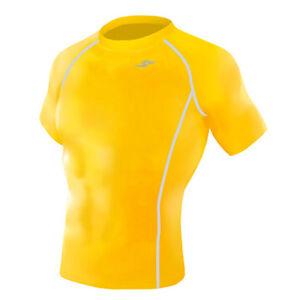 Take Five Mens Skin Tight Compression Base Layer Running Shirt S~2XL Black 065