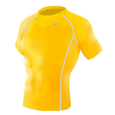 Take Five Mens Skin Tight Compression Base Layer Running Shirt White NT047 CA