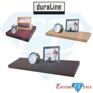 High Gloss Cappuccino 35kg Capacity Duraline Floating Wall Shelf 60 x 25cm