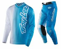 2017 Troy Lee Designs Gp Air 50/50 Mx Moto Gear Combo White/ Blue All Sizes