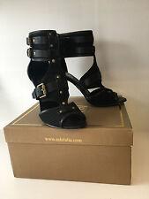 ASH HEIDI GLADIATOR Cuffed Black Strappy High Heel Sandals EU 41 UK 7 NEW