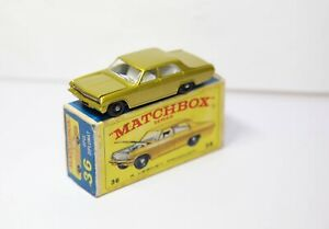 Lesney-Matchbox-N-36-Opel-Diplomat-en-su-caja-original-muy-cerca-Perfecto