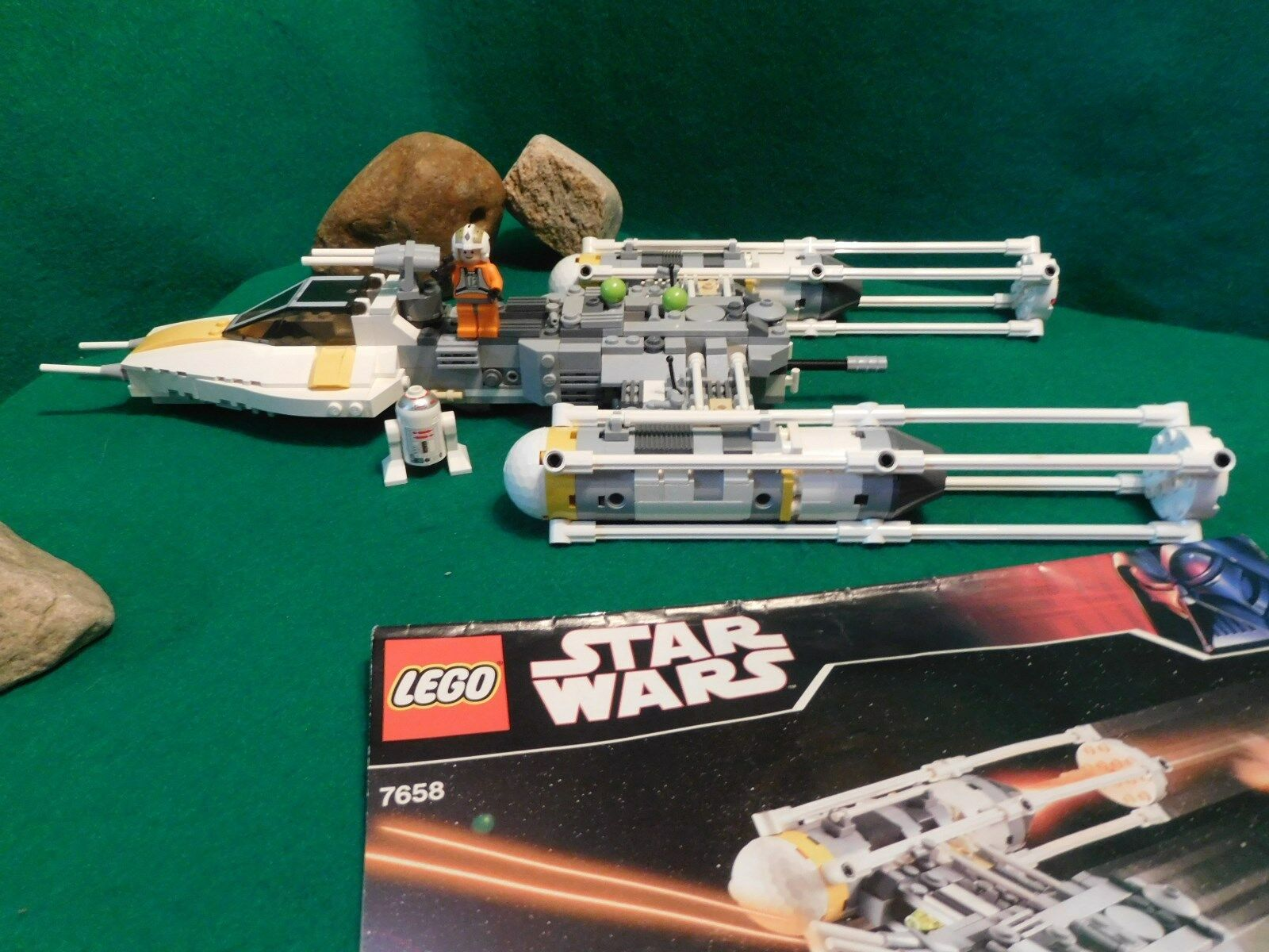 LEGO Star Wars 7658 - Y-wing fighter von 2007 mit Bauplan komplett