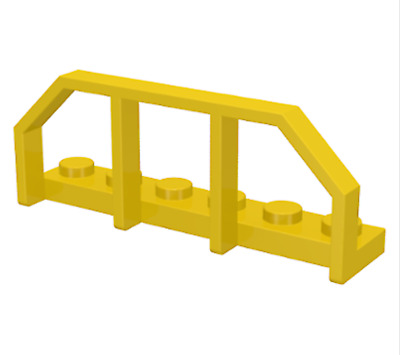 LEGO Lot of 2 Yellow 1x6 Rail End Fence Plate Pieces