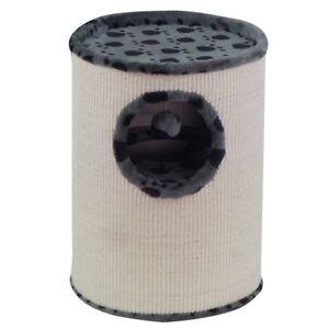 Arbre à chat avec corbeille boule 36x50cm en forme de patte grise