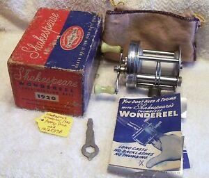 SHAKESPEARE WONDEREEL 1920 REEL TAG# 12/25/17B   BOX PAPERS + GOOD CLICKER