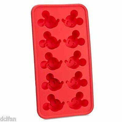 Disney Parks Best of Mickey Mouse Red Silicone Ice Cube Tray Candy Mold NEW