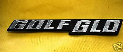 TARGHETTA EMBLEM Badge fregio VOLKSWAGEN GOLF GLD