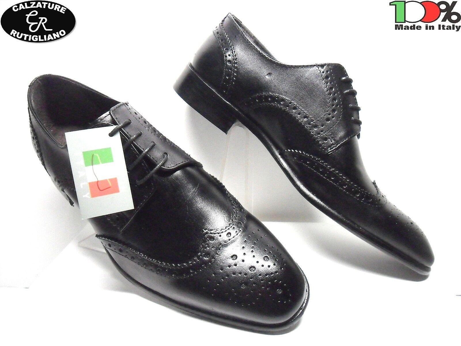CENTRO STRADA chaussures ELEGANTI hommes MODELLO INGLESE IN PELLE noir - 1710