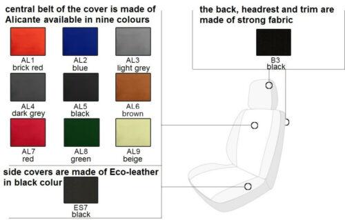 VW JETTA Mk6 2010-2017 ARTIFICIAL LEATHER /& ALICANTE TAILORED SEAT COVERS