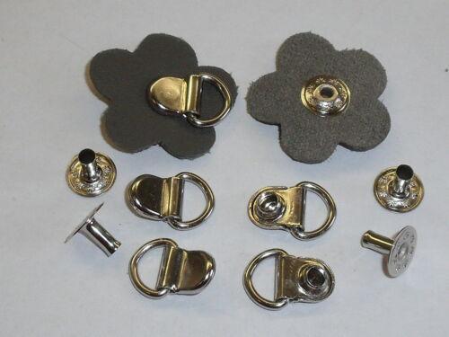10 Stück Metallösen Miederösen Schuhösen mit Nietunterteile  silber  NEUWARE
