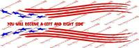Sweet American Flag Trailer Decal Set 3x27 Inches Long Chaparral Wellcraft
