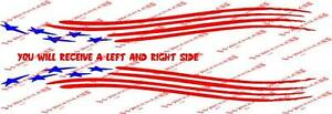 Sweet-American-Flag-trailer-decal-set-6x54-inches-long-Mastercraft-Ranger