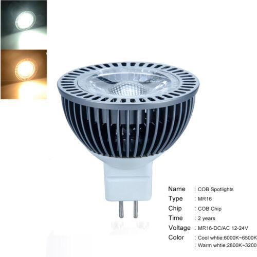 Ultra Bright MR16//GU10 7W LED COB Spot Light Bulbs COB Chip 110V 220V 24V 12V
