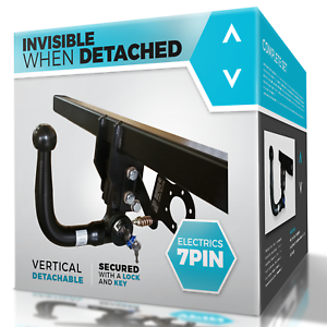 OPEL VIVARO 2014-2018 B VAN Detachable Vertical Towbar with Electric Kit 7Pin